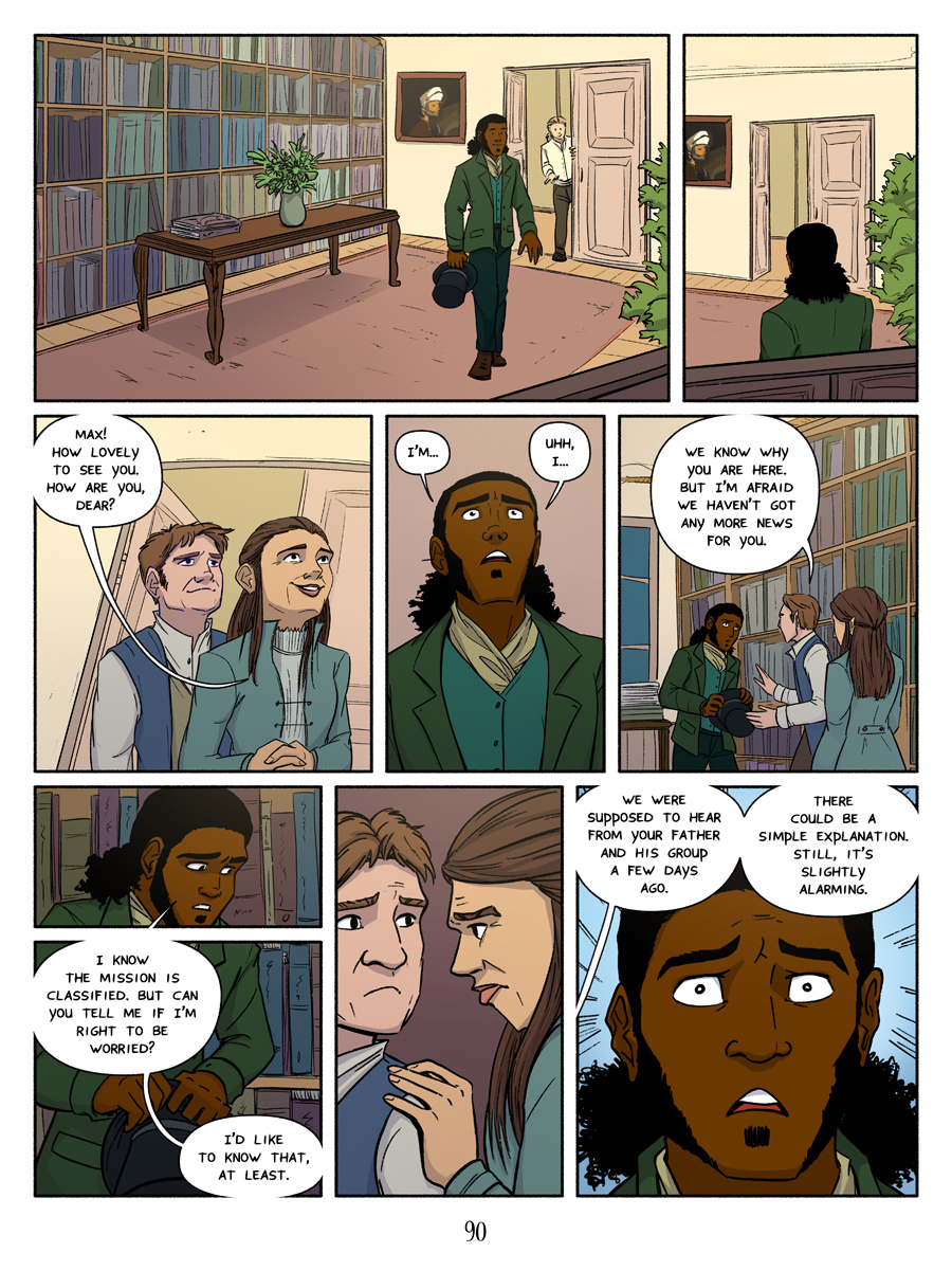 Recollection City webcomic page 90 - slightly alarming