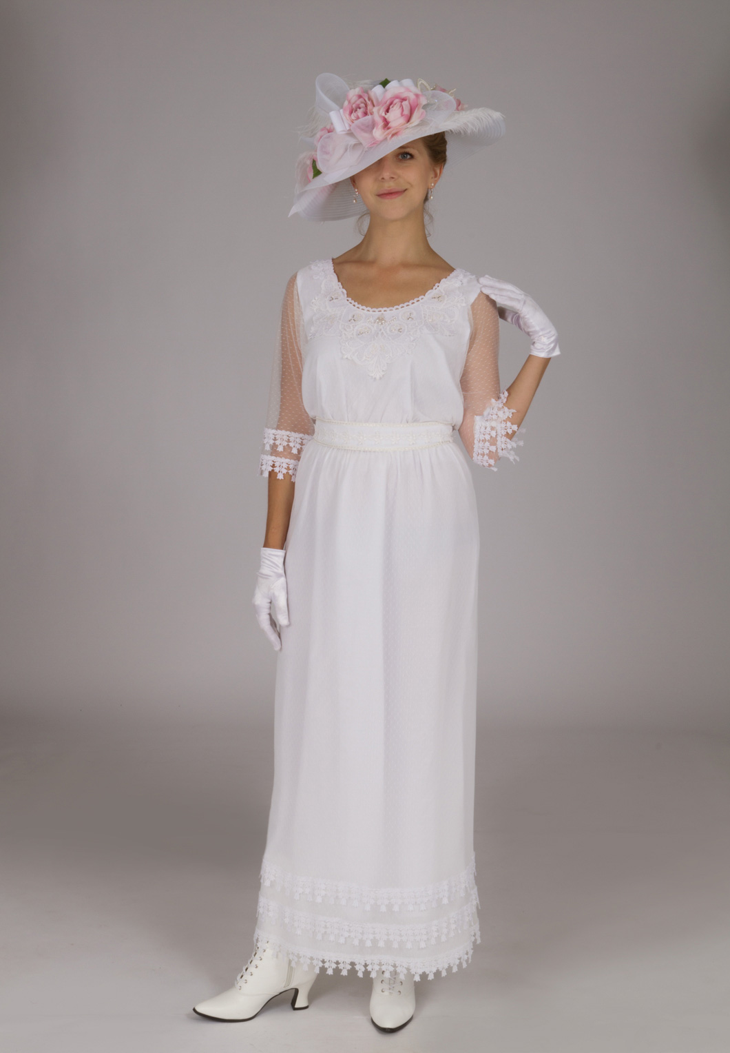 White Edwardian Dress Recollections