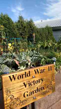 World War II Victory Garden in front of the BVH Center