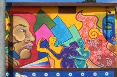 """Paulina Genea aus Mexiko hat dieses Gemälde """"Für den Frieden unserer Völker"""" gemalt."""
