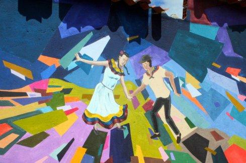 Hier tanzen Kolumbien (links) und Venezuela (rechts) gemeinsam durch die Farben.