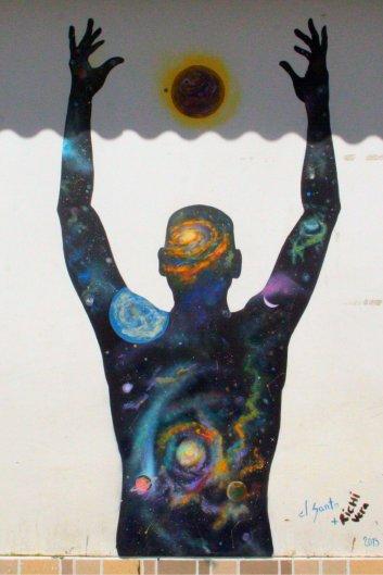 El Santo und Richi Vera haben dieses Gemälde gestaltet.