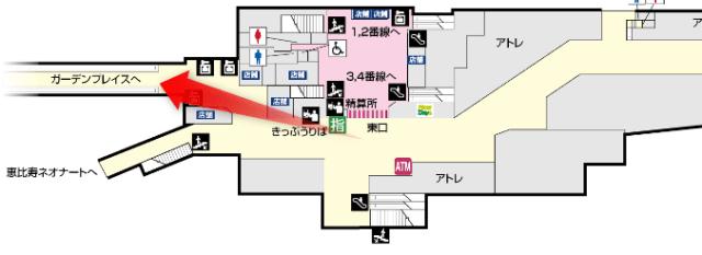 恵比寿駅構内図