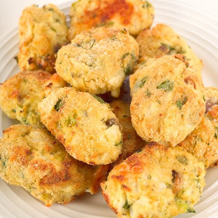Cheesy Keto Cauliflower Tots