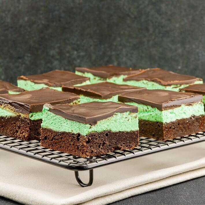 Low Carb Grasshopper Brownies