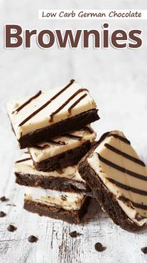 Low Carb German Chocolate Brownies