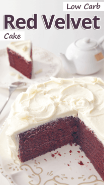 Low Carb Red Velvet Cake