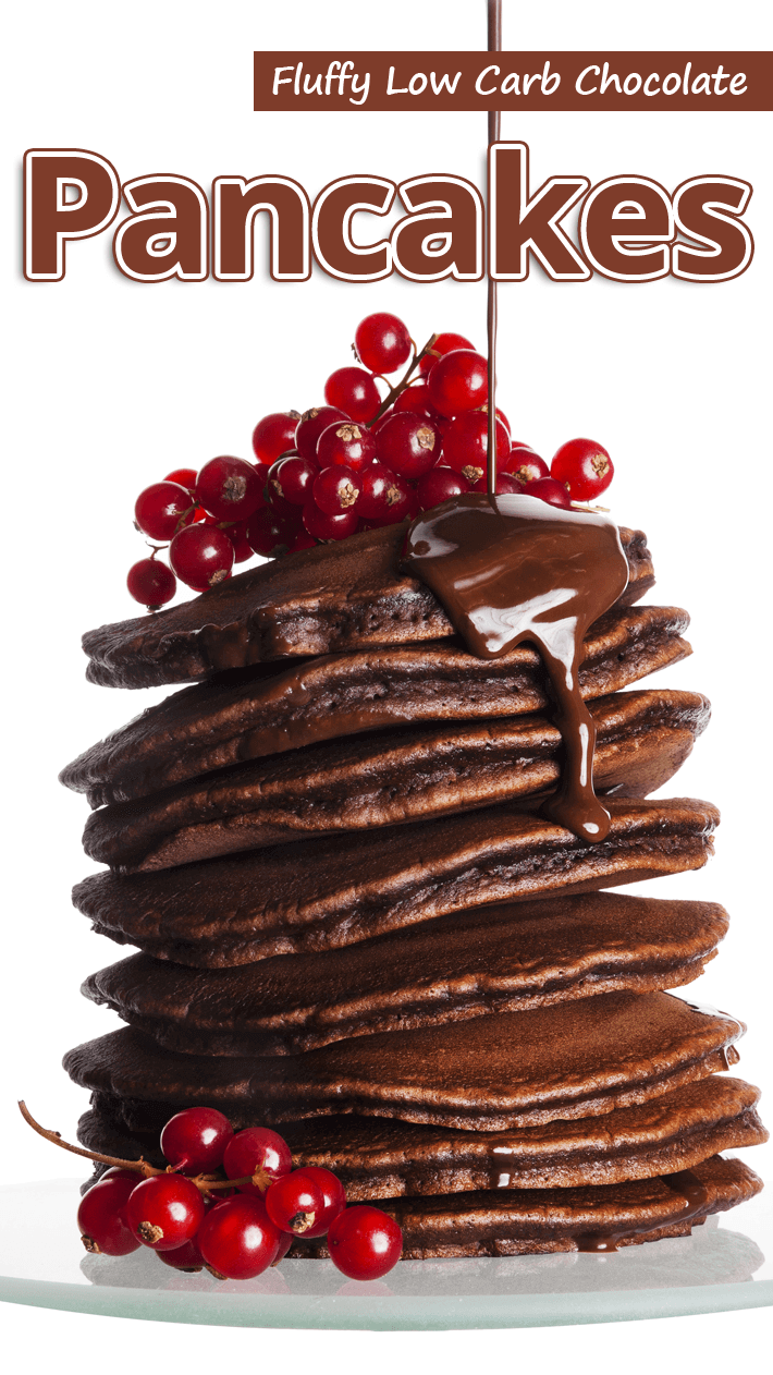 Fluffy Low Carb Chocolate Pancakes