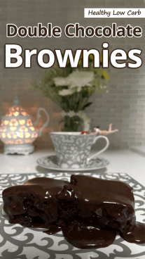 Healthy Low Carb Double Chocolate Brownies