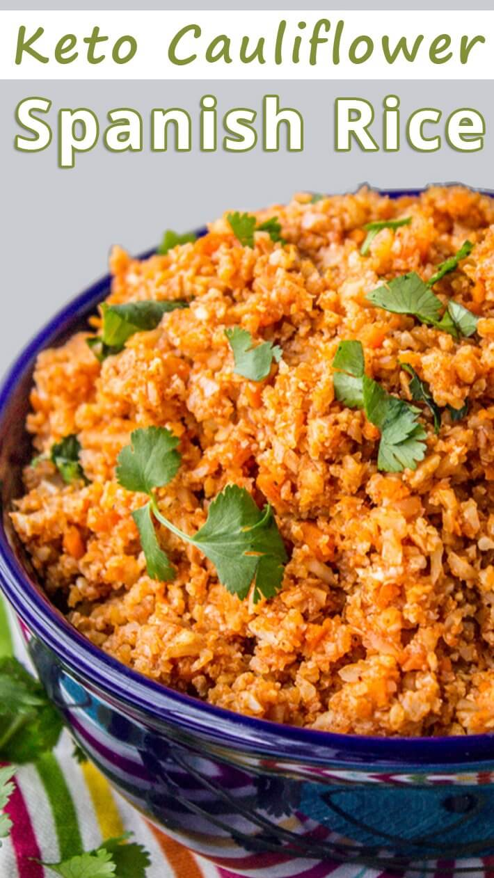 Keto Cauliflower Spanish Rice