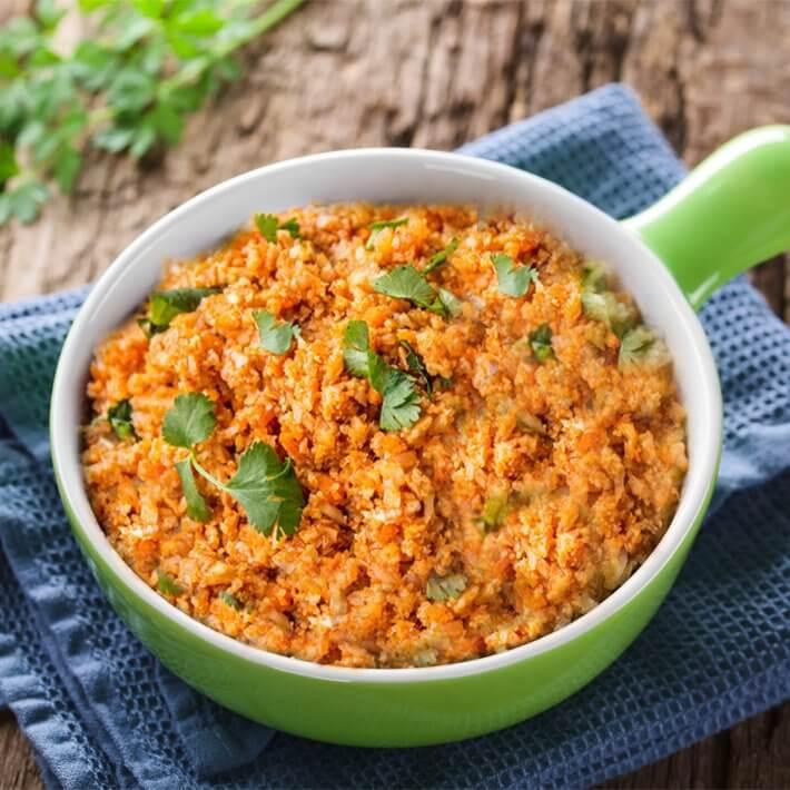 Keto Cauliflower Spanish Rice