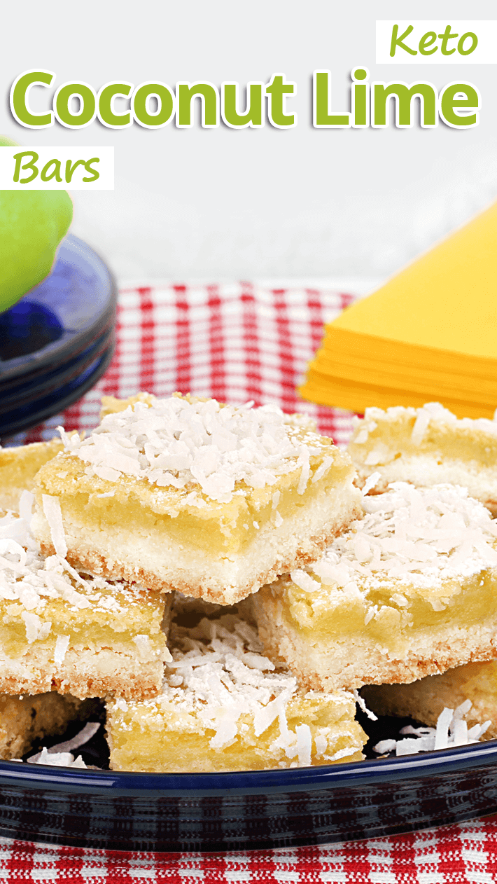 Keto Coconut Lime Bars