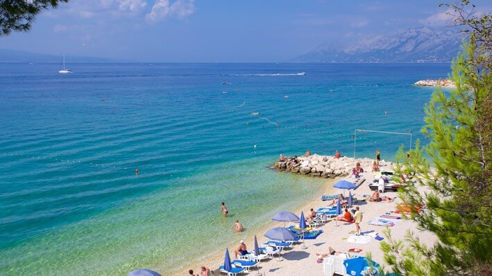 Baska Voda Beach, Croatia