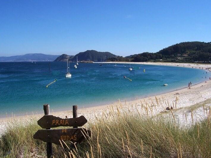The beaches of the Cíes Islands, Galicia, Spain