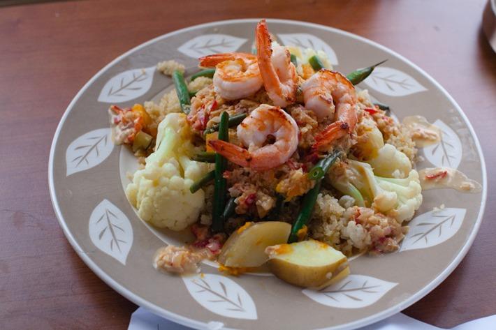 Chili-Garlic Shrimp Noodle Bowl