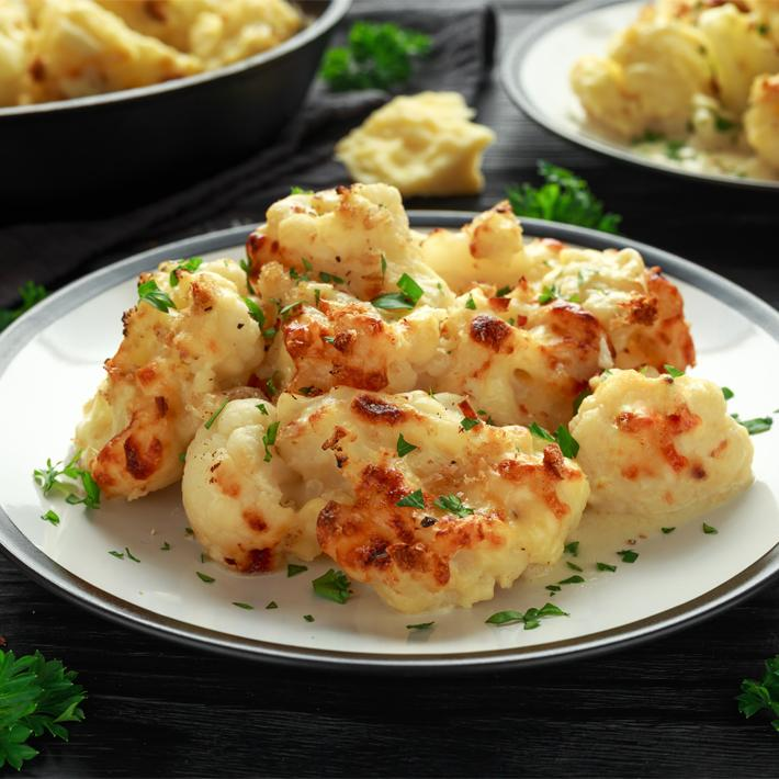 Keto Parmesan-Roasted Cauliflower