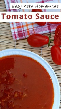 Easy Keto Homemade Tomato Sauce