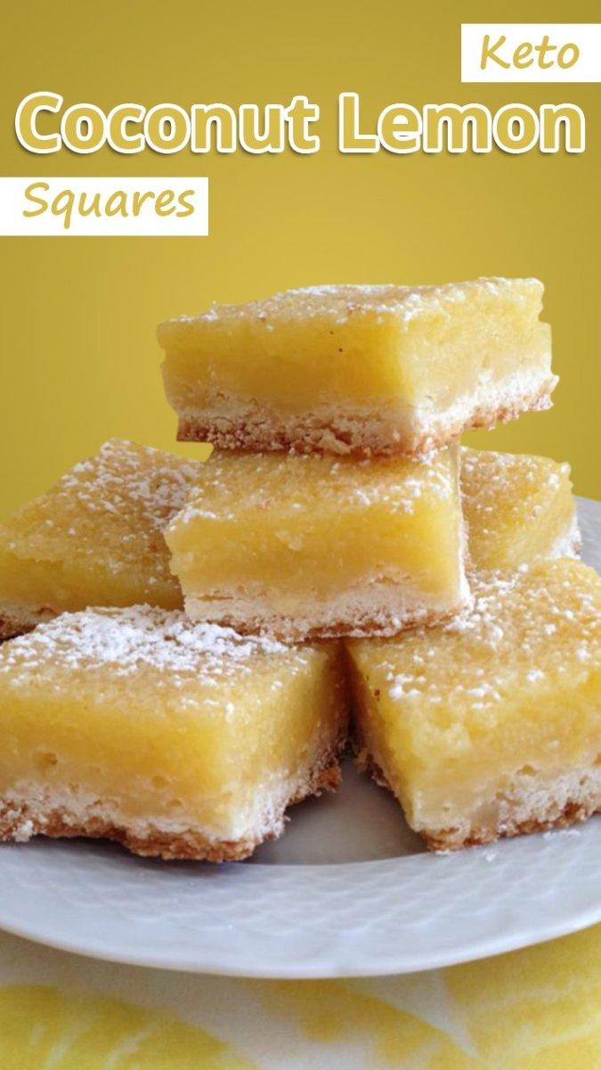 Keto Coconut Lemon Squares