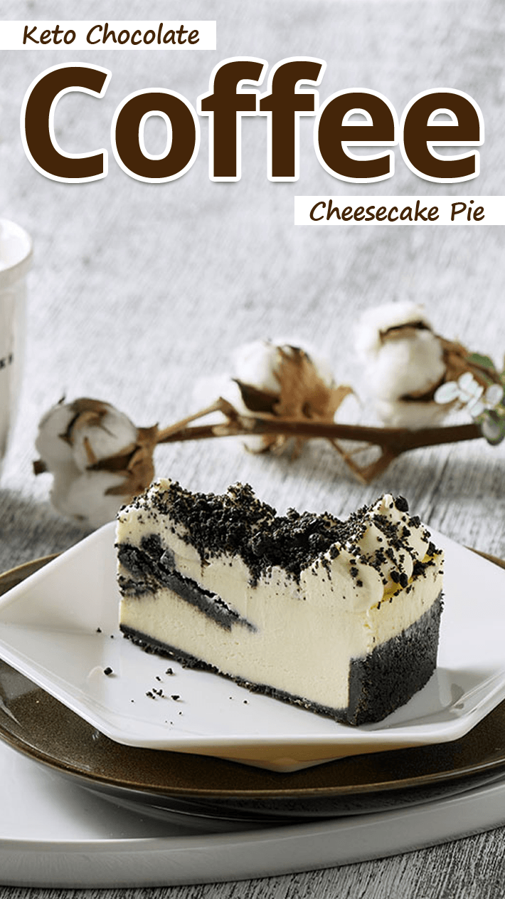 Keto Chocolate Coffee Cheesecake Pie