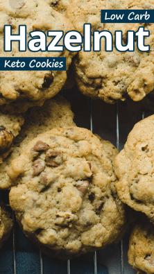 Low Carb Hazelnut Keto Cookies
