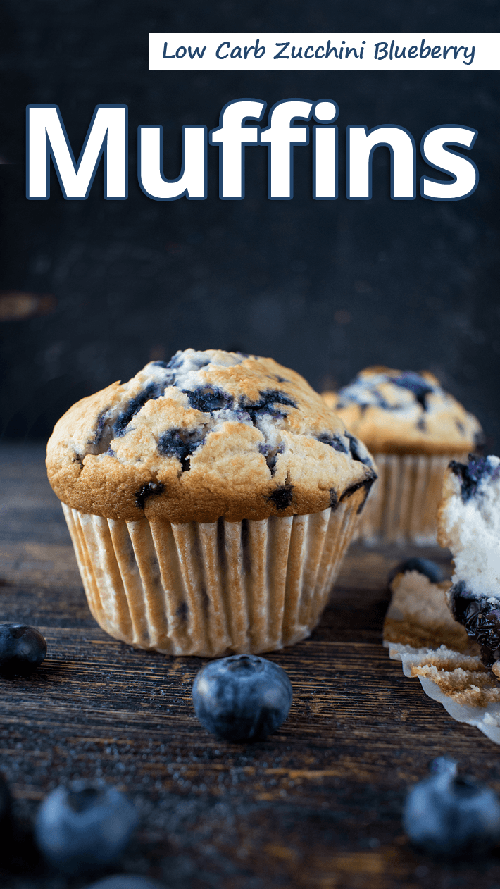 Low Carb Zucchini Blueberry Muffins
