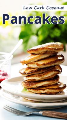 Low Carb Coconut Pancakes