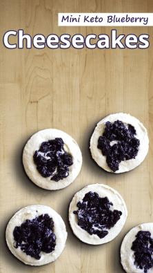 Mini Keto Blueberry Cheesecakes