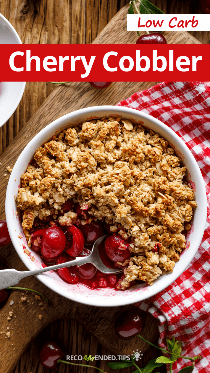 Low Carb Cherry Cobbler featured image