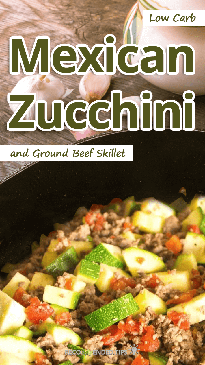 Low Carb Mexican Zucchini and Ground Beef Skillet featured image