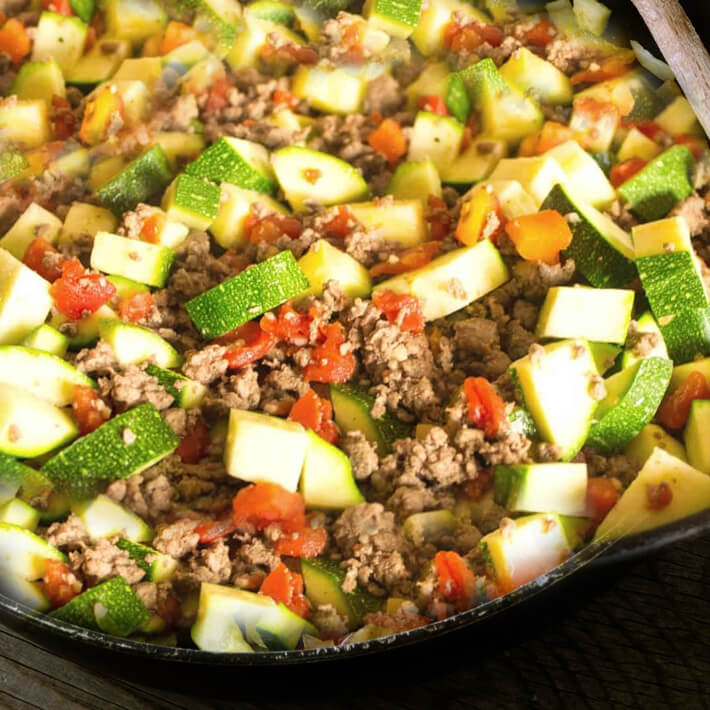 Low Carb Mexican Zucchini and Ground Beef Skillet 1