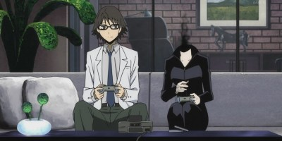 celty and shinra from durarara