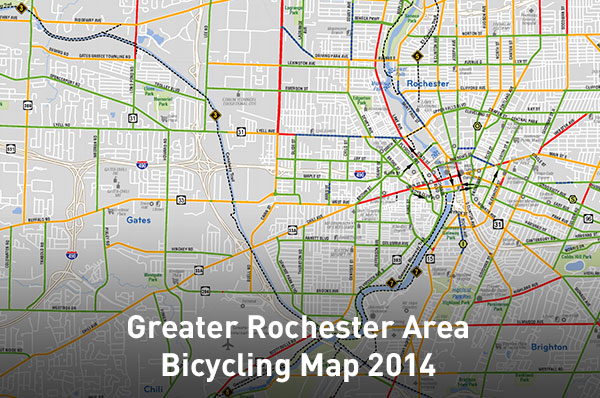 Greater Rochester Area Bicycling Map