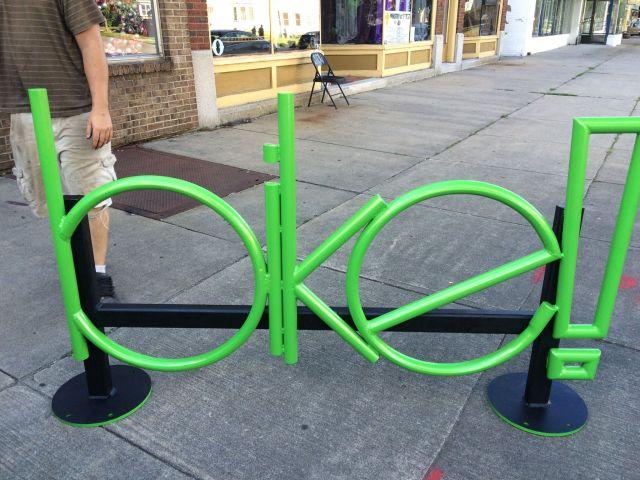 """""""Bike"""" rack on Merchants! [IMAGE:NeighborWorks]"""