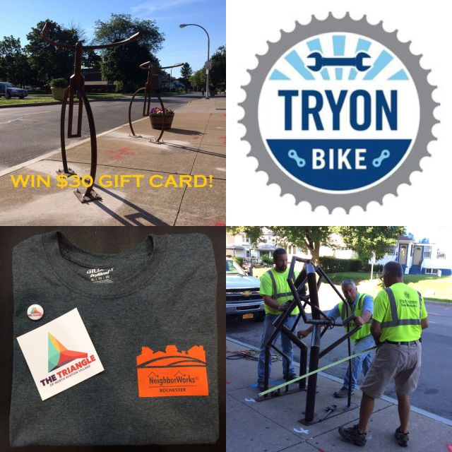 Win a $30 gift card to Tryon Bike. Simply take a picture of yourself and your bike at one of these racks, and upload to Facebook or Instagram.