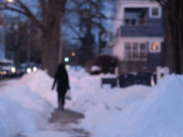 Snowy sidewalk. Albany, NY. [FLICKR PHOTO: rik-shaw (look 4 light)]