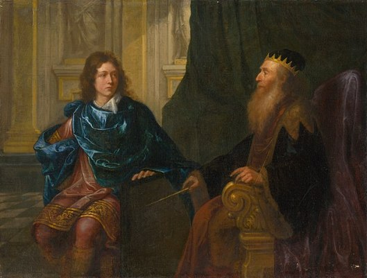 634px-Francúzsky_maliar_-_Old_Testament_Scene_(Solomon_and_King_David)_-_O_253_-_Slovak_National_Gallery