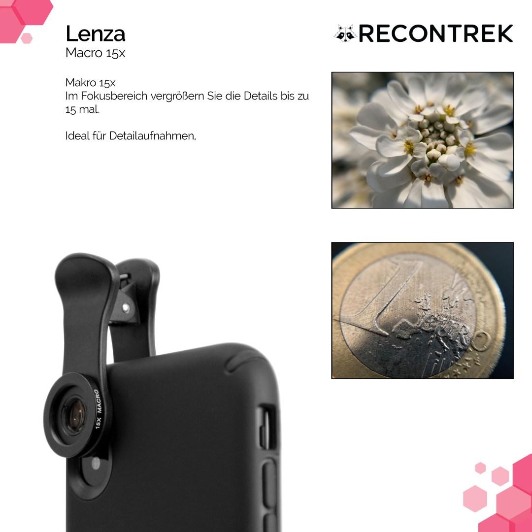 Handy Objektiv Set Lenza Makro 15x
