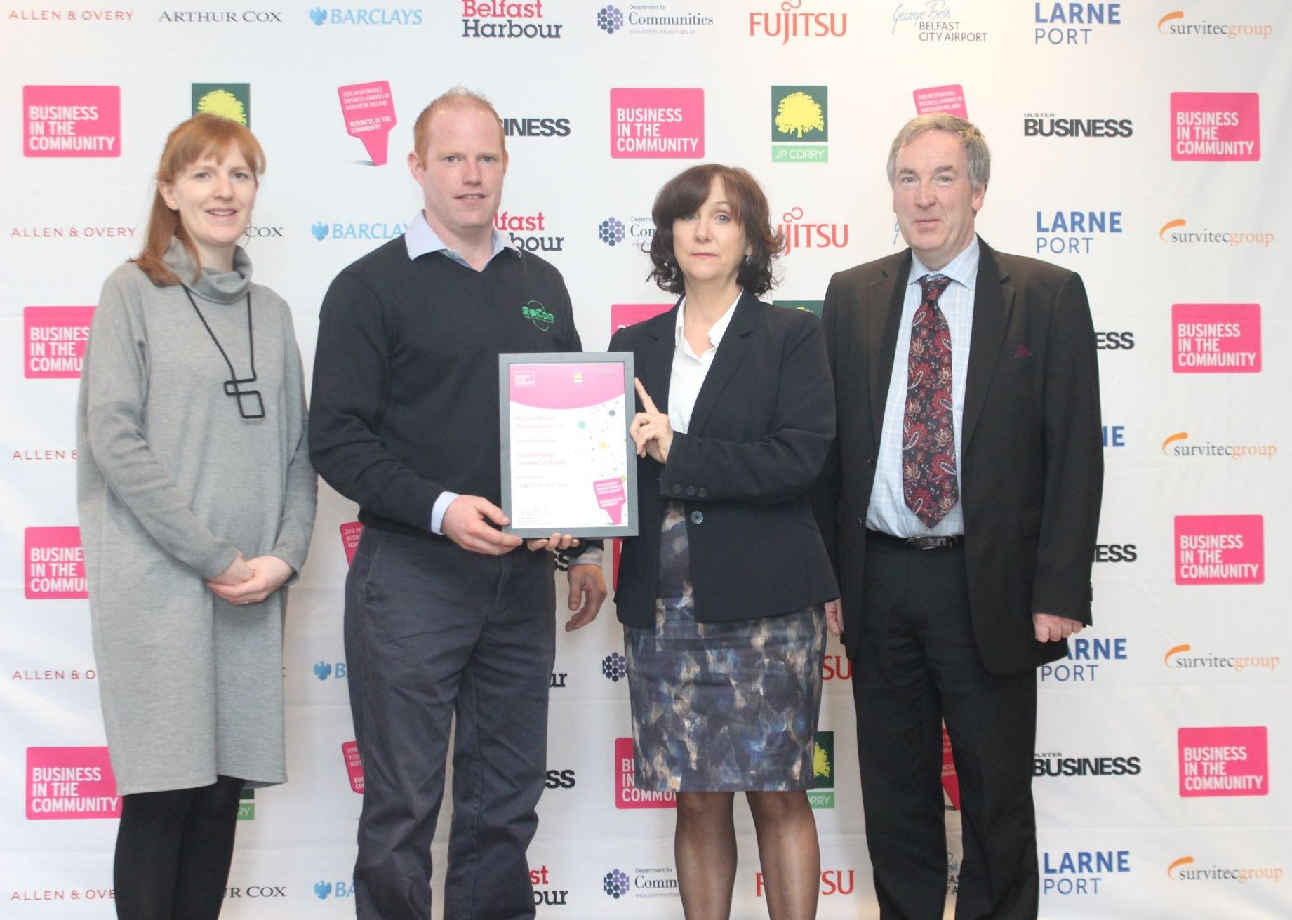 ReCon Waste Management Ltd shortlisted for Responsible Business Award