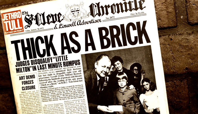 Thick as a Brick Jethro Tull Newspaper