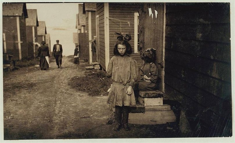 lewis hine cartoner child workers
