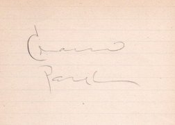 Charlie Parker – Signed Page, from Norman Saks Collection (Pictured in Saks Collection Book)