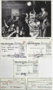 David Bowie & Spiders From Mars – 5 Autographed Petty Cash Receipts and Vintage Promotional Photograph