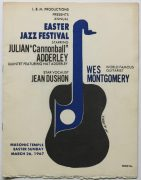 Cannonball Adderley / Wes Montgomery -1967 Concert Program, signed by Cannonball and Nat Adderley