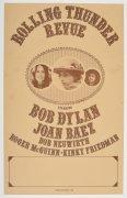 Bob Dylan – 1976 Rolling Thunder Review Concert Poster, With Joan Baez, Roger McGuinn