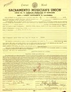 Janis Joplin / Big Brother and the Holding Company – 1966 Concert Contract, Signed By Peter Albin