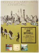 Joni Mitchell – 1976 Dallas Concert Poster from 'Hissing of Summer Lawns' Tour