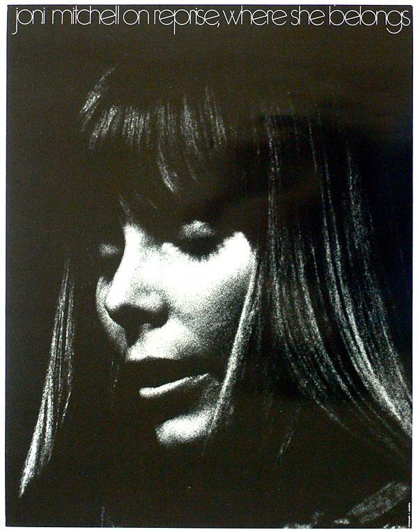 joni mitchell 1971 reprise promo poster