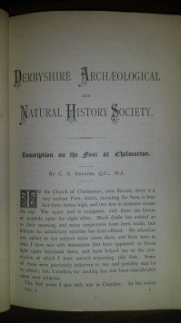 The first page of the first article to appear in the journal