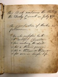 D2670/J/MW/3/1 Annual list of Society members in the Derby Wesleyan Methodist Circuit, 1791-1801
