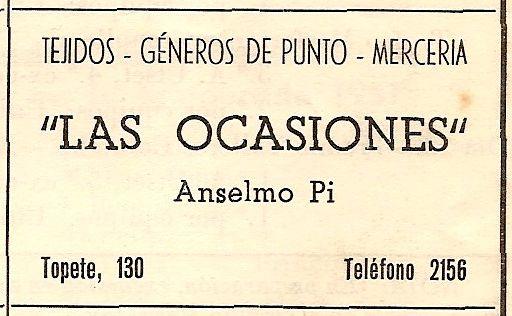 Anunci de Las Ocasiones del 1951